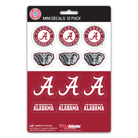 Alabama Crimson Tide 12 Pack Decal Set