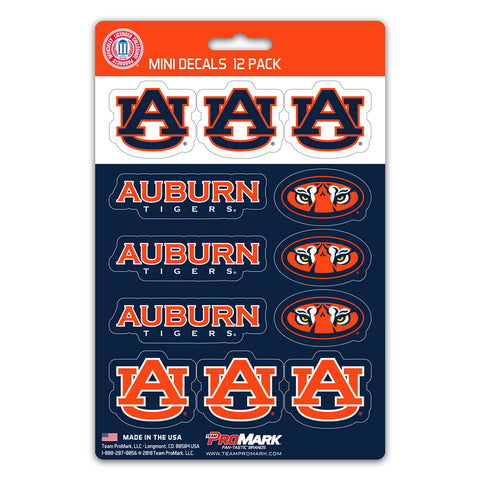Auburn Tigers 12 Pack Decal Set