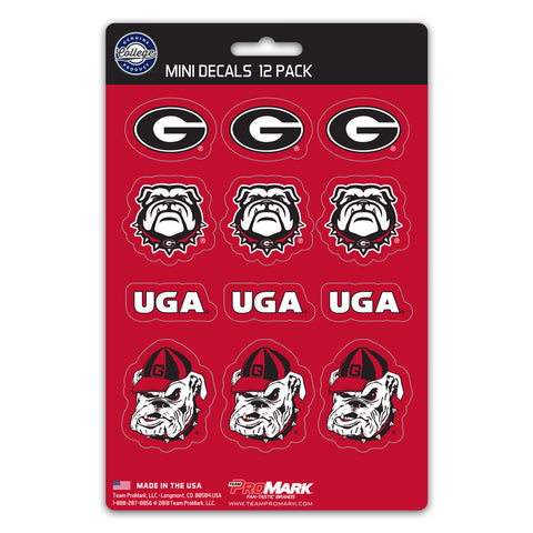 Georgia Bulldogs 12 Pack Decal Set