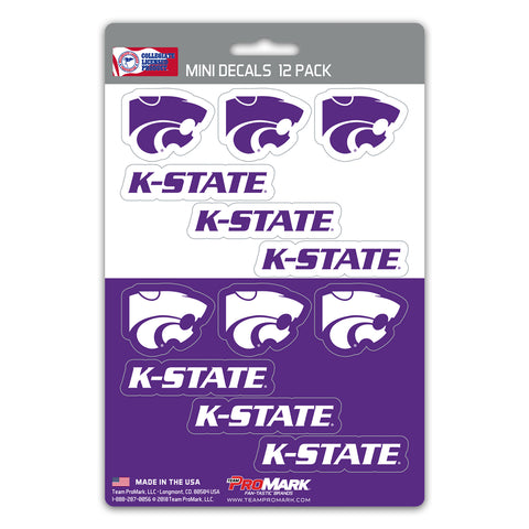 Kansas State Wildcats 12 Pack Decal Set