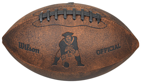 "New England Patriots Vintage Throwback 9"" Football"
