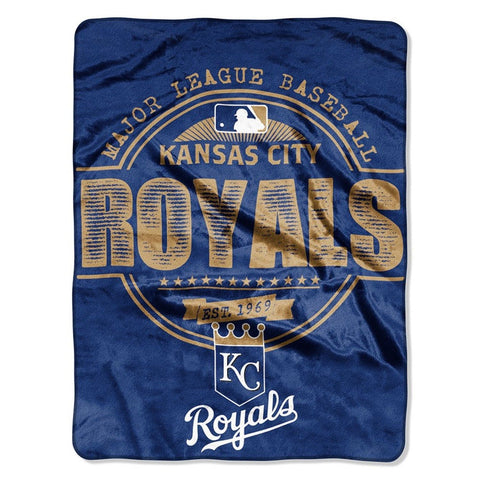 Kansas City Royals Blanket 46x60 Raschel Structure Design Rolled