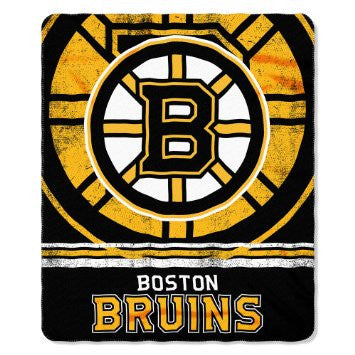 Boston Bruins Blanket 50x60 Fleece Fade Away Design