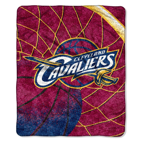 Cleveland Cavaliers Blanket 50x60 Sherpa Reflect Design