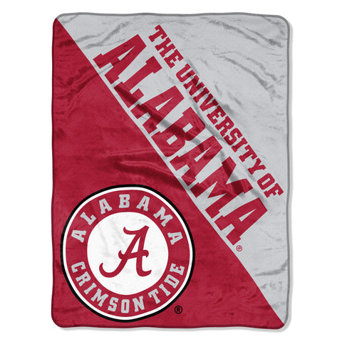 Alabama Crimson Tide Micro Raschel Halftone Design Rolled Blanket 46x60""