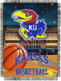 Kansas Jayhawks 48x60 Woven Tapestry Throw