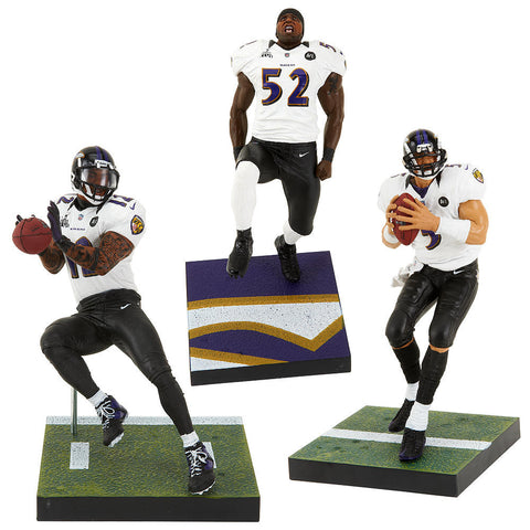 Baltimore Ravens Sport Picks NFL 3- Pack Champion Figurines