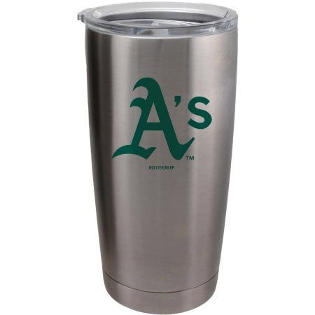 Oakland Athletics Travel Tumbler - 20 oz Ultra - Silver
