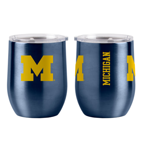 Michigan Wolverines 16oz Ultra Curved Travel Tumbler
