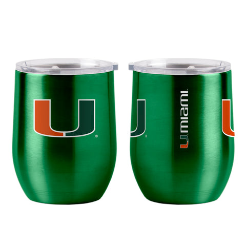 Miami Hurricanes 16oz Ultra Curved Travel Tumbler