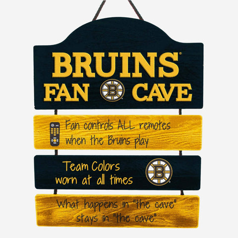 Boston Bruins Wooden Tiered Man Cave Sign