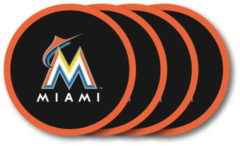 Miami Marlins Coaster Set - 4 Pack