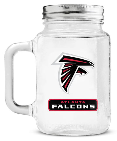 Atlanta Falcons Mason Glass Jar with Lid