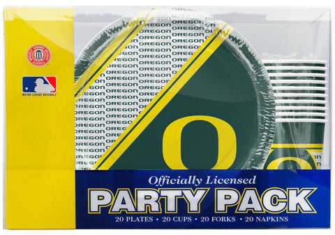 Oregon Ducks 80 Piece Premium Party Pack