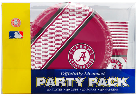 Alabama Crimson Tide 80 Piece Premium Party Pack