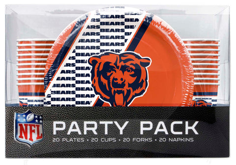Chicago Bears 80 Piece Premium Party Pack