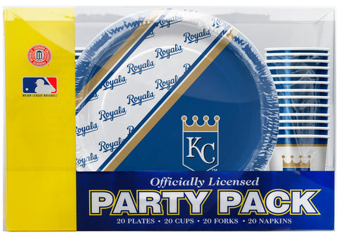 Kansas City Royals 80 Piece Premium Party Pack