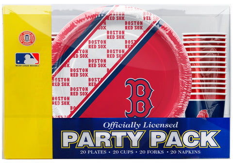 Boston Red Sox 80 Piece Premium Party Pack