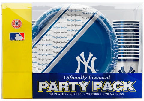 New York Yankees 80 Piece Premium Party Pack