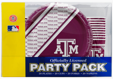 Texas A&M Aggies 80 Piece Premium Party Pack