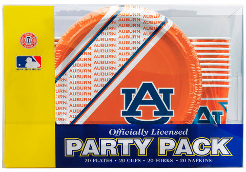 Auburn Tigers 80 Piece Premium Party Pack