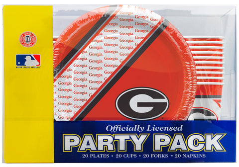 Georgia Bulldogs 80 Piece Premium Party Pack