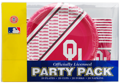 Oklahoma Sooners 80 Piece Premium Party Pack