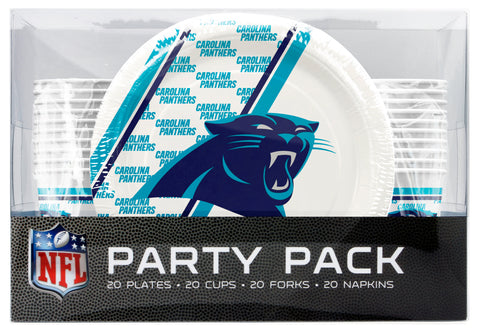 Carolina Panthers 80 Piece Premium Party Pack