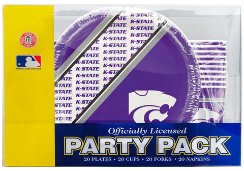 Kansas State Wildcats 80 Piece Premium Party Pack