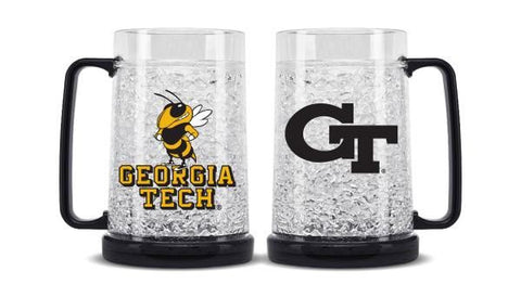 Georgia Tech Yellow Jackets Crystal Freezer Mug