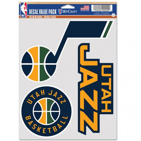 Utah Jazz Multi Use 3 Pack Fan Decals
