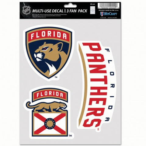 Florida Panthers Multi Use 3 Pack Fan Decals