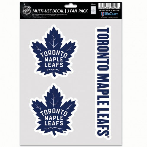 Toronto Maple Leafs Multi Use 3 Pack Fan Decals Sports Addict