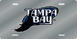 Tampa Bay Rays Laser Cut Silver License Plate