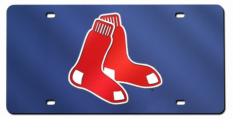 Boston Red Sox Laser Cut Blue License Plate