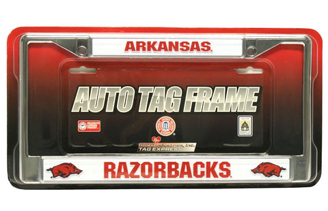 Arkansas Razorbacks Chrome License Plate Frame