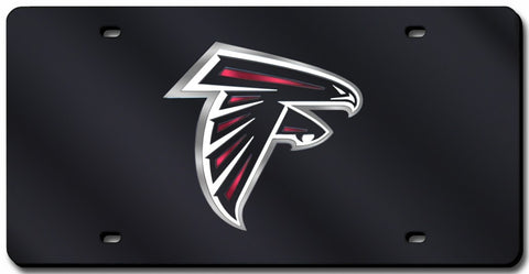 Atlanta Falcons Laser Cut Black License Plate