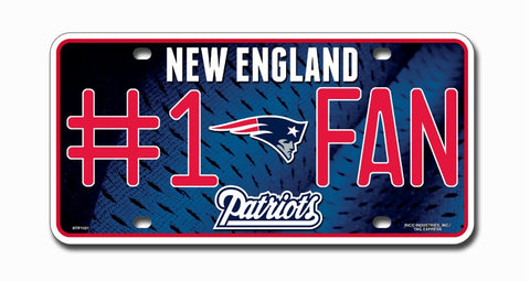 New England Patriots License Plate - #1 Fan