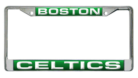 Boston Celtics Laser Cut Chrome License Plate Frame