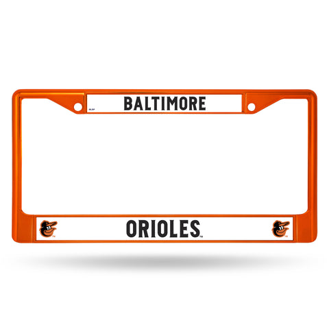 Baltimore Orioles Orange Metal License Plate Frame