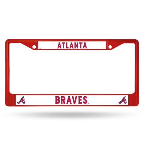 Atlanta Braves Red Metal License Plate Frame