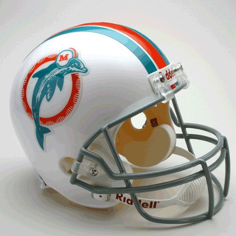 Miami Dolphins 1973-79 Riddell Deluxe Replica Full Size Helmet