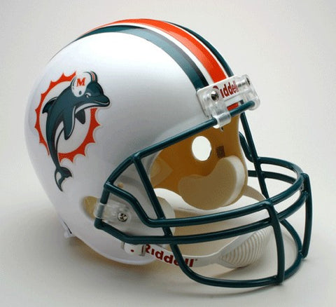 Miami Dolphins 1997-2012 Riddell Deluxe Replica Full Size Helmet