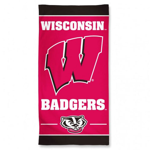 Wisconsin Badgers Beach Towel 30x60""