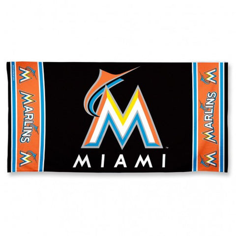 Miami Marlins Beach Towel - New