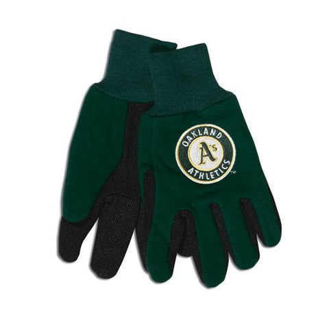 Oakland Athletics Two Tone Gloves - Adult Size