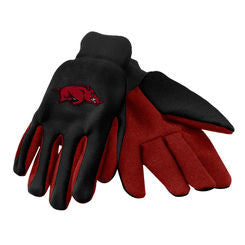 Arkansas Razorbacks Two Tone Gloves - Adult - Black