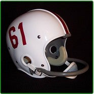 Alabama Crimson Tide 1957-71 '1961 National Champs' Authentic Vintage Full Size Helmet (White Shell)