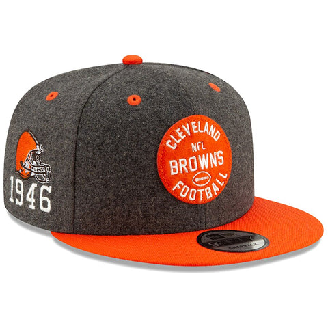 Cleveland Browns New Era 2019 Sideline Official Home 9FIFTY Snapback Cap