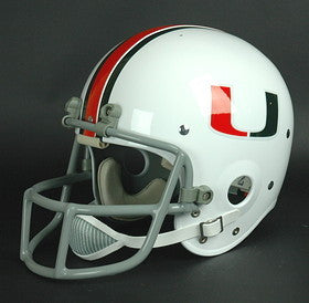 Miami Hurricanes 1976-83 '1983 National Champs - Jim Kelly' Authentic Vintage Full Size Helmet